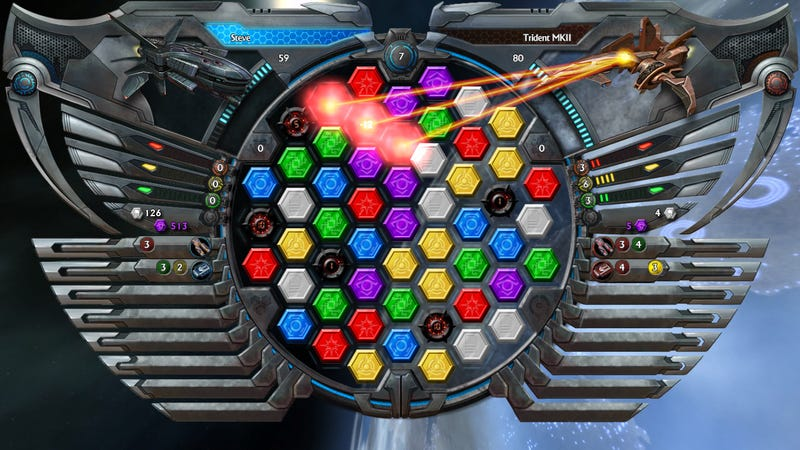 Bejeweled + Science Fiction = Galactrix