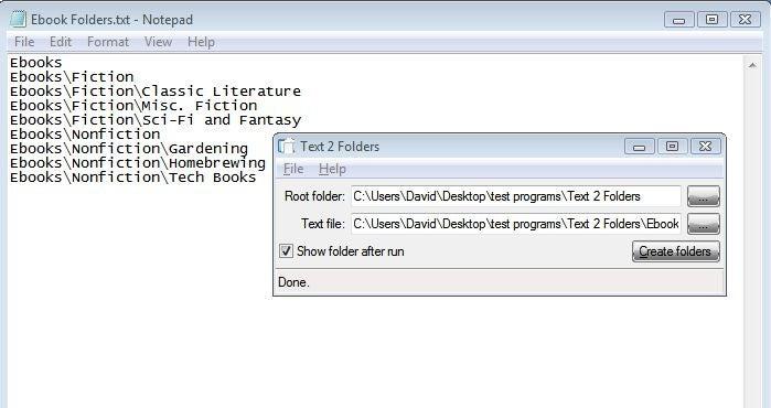 Text 2 Folder Creates Many Folders at Once
