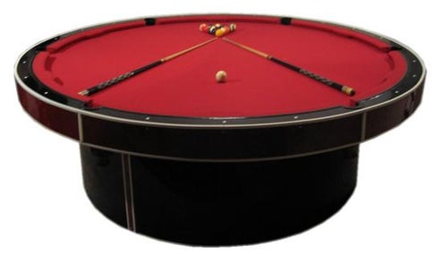 JM Billiard Round Pool Table Has a Stripper Pole Attachment