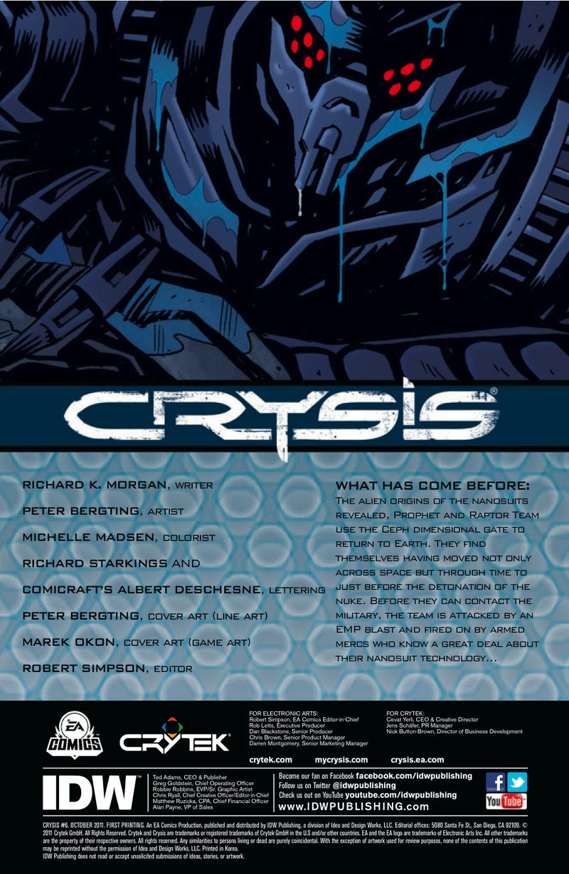 Read a seven-page preview of the finale of the Crysis comic book