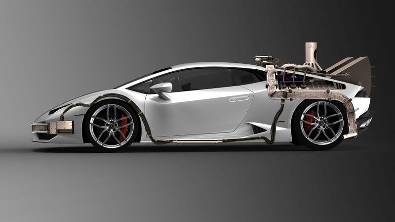 Got Bored: Made Back to the Future Lamborghini Huracan