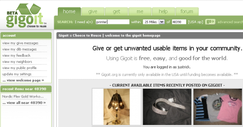 Give and get items in your community with Gigoit