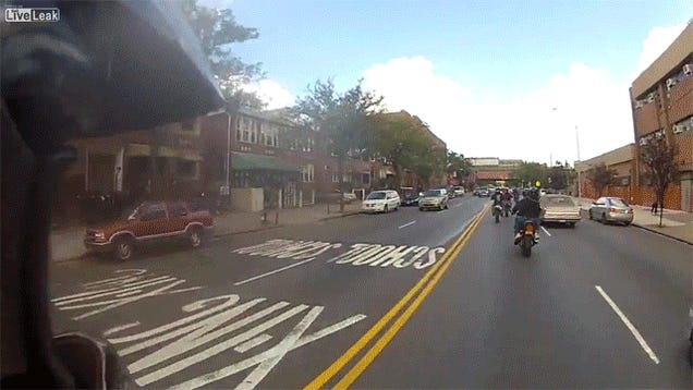 Deleted Videos Show Asshat Bikers Before Range Rover Attack