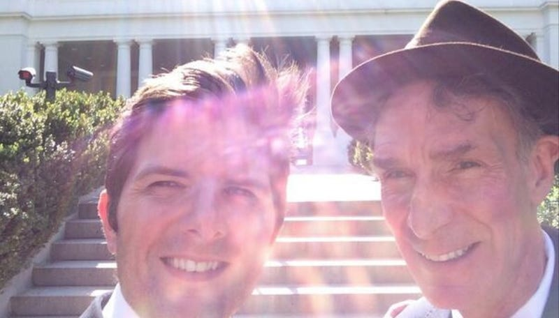 Your Boyfriends Adam Scott and Bill Nye Are Blinding You With Cuteness