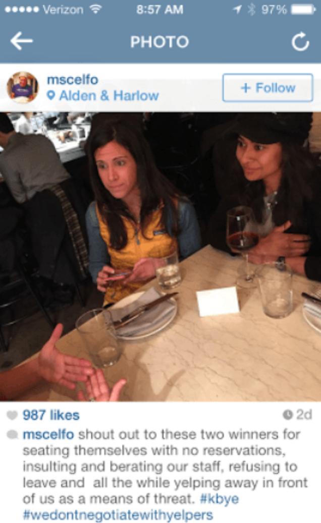Boston Restaurant Publicly Shames Horrible Yelp-Threatening Customers