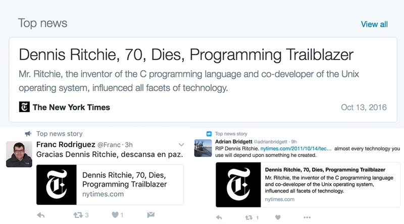 Legendary Programmer Dies for the Second Time