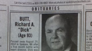 "He came, he went. Farewell, ""Dick"" Butt."