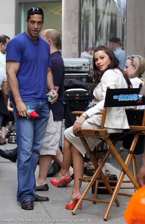 Smurfs Set Photos