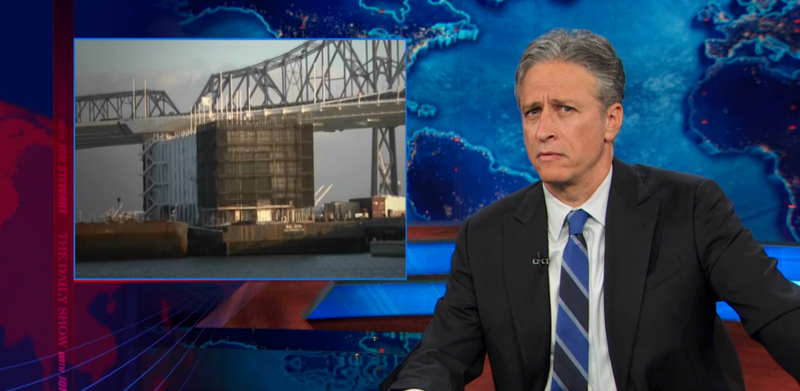 Jon Stewart: Google Mystery Barge Is the Start of a Bad Horror Movie