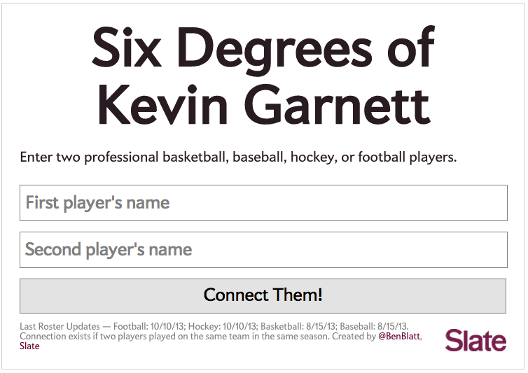 "You Could Spend All Day Playing ""Six Degrees Of Kevin Garnett"""