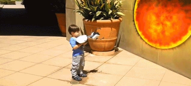 Watch a Dad's Righteous Special Effects Turn His Kid Into an Action Hero