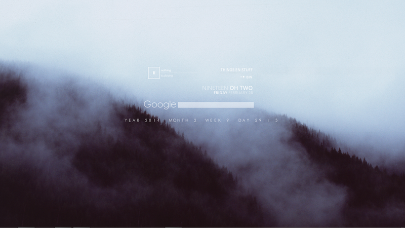 The Misty Mountain Desktop