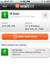 WaitList Reports Wait Times at Popular Restaurants, Bars, and More