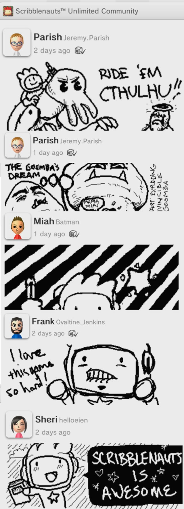 The Best Things We've Found In the Wii U's Miiverse