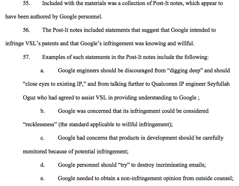 Lawsuit Claims Google Wrote Down Plan to Steal Idea on Some Post-Its