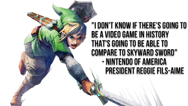 Reggie Says Skyward Sword Will Forever Be the Best Game of All Time