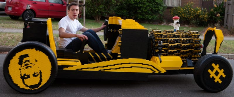 That full-size LEGO car was its builder's second-ever LEGO project