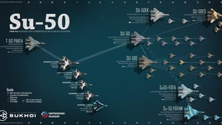 Cool graphic shows the potential future of Russia's next-gen fighter jet