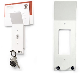 Light Switch Rack Keeps Your Keys, Outbound Mail Handy