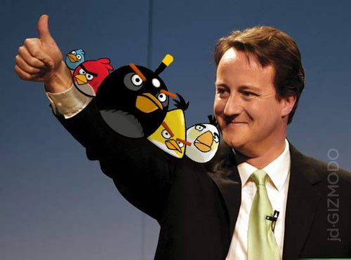 The UK's Prime Minister is an Angry Birds Gamer