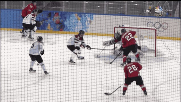 Switzerland Beats Latvia On Crazy Last-Second Deflection