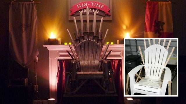 Guy makes Game of Thrones' Iron Throne with cheap plastic chair