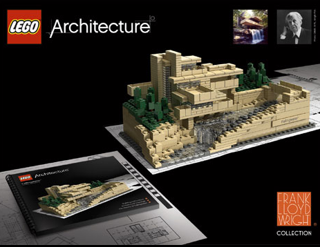 LEGO Micro-Scales Frank Lloyd Wright's Fallingwater House