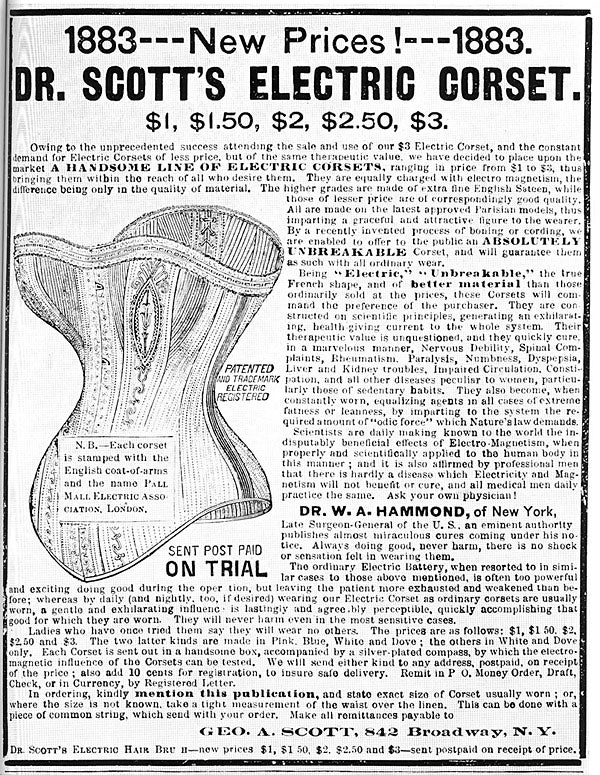 Zap Yourself Healthy With The Electric Corset, 1883