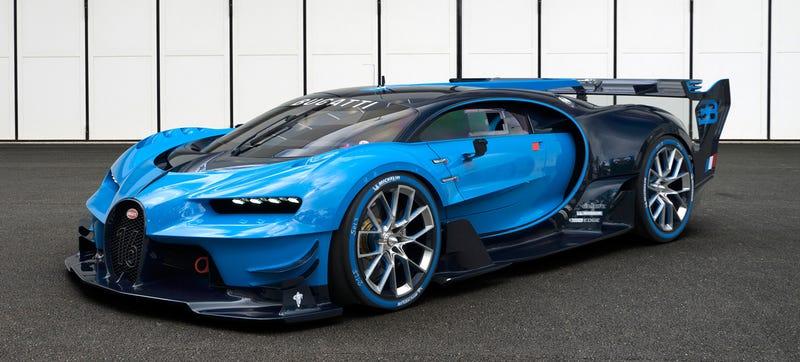 'Bugatti Vision Gran Turismo Concept: The Future Of Bugatti Looks Terrifyingly Awesome' from the web at 'http://i.kinja-img.com/gawker-media/image/upload/s--zT8noTnn--/c_scale,fl_progressive,q_80,w_800/1430362452839683624.jpg'