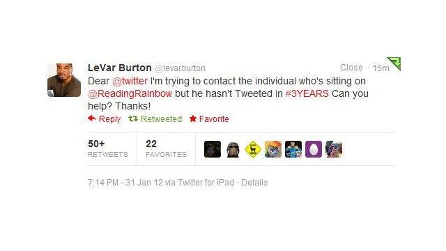 Let's Help LeVar Burton Get @ReadingRainbow Where It Belongs