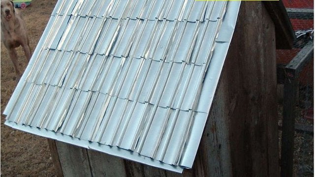 Make Shingles from Aluminum Beverage Cans