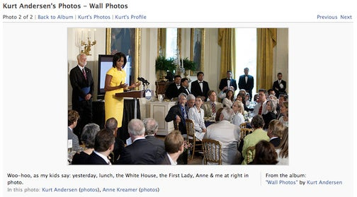 Spy Founder Kurt Andersen Flabbergasted By Brush With Michelle Obama, Stole From White House
