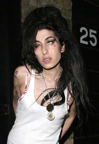 Amy Winehouse Eats Tequila Shots for Breakfast
