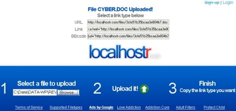 Host files in a flash with Localhostr