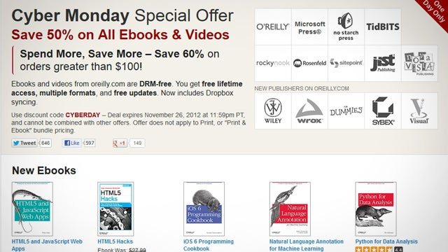 Learn to Code On the Cheap (and More) with 50% Off O'Reilly Ebooks, Today Only