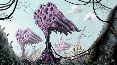This sentient, biomechanical jungle is the anti-Skynet