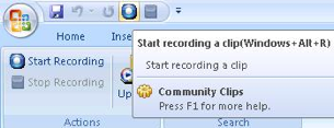 Community Clips Records Screencasts of Office Apps in Action
