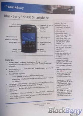GSM Touchscreen BlackBerry Storm Specs Leaked, Thunder Name Ditched