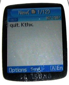 Defense Minister Resigns Via Text Message