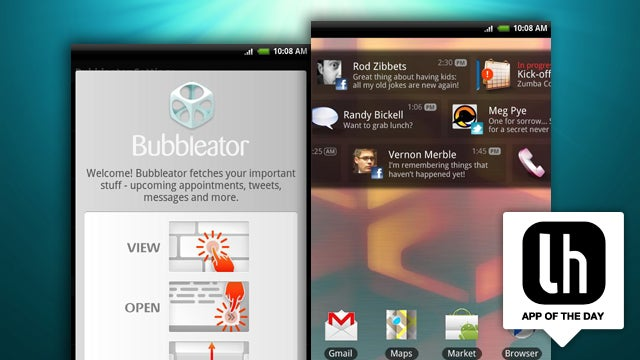 Bubbleator Puts Twitter, Facebook, and Other Notifications on Your Android Home Screen
