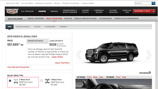 Odd glitch of the day: Try and build an ATS Coupe, get to build a Yukon Denali. Upgrade?