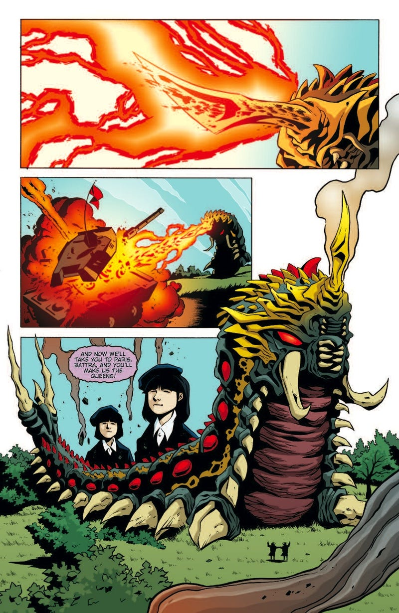 In this 7-page preview for the Godzilla comic, will the Jersey Shore cast meet Japan's most famous kaiju?