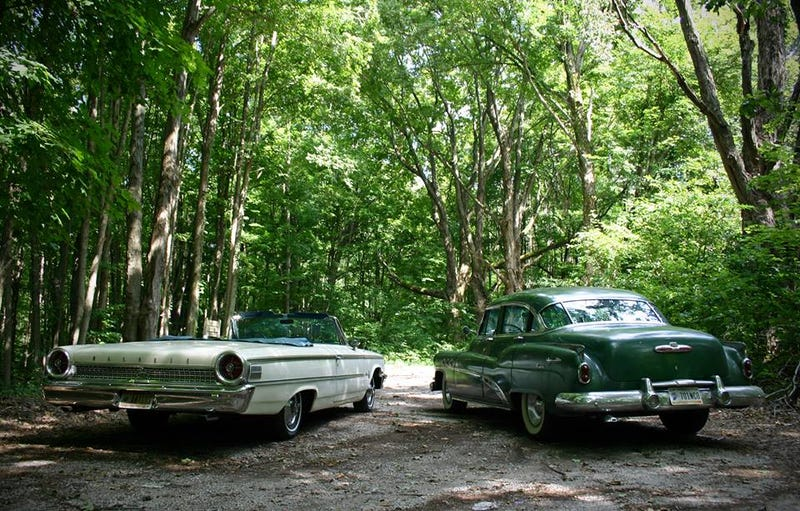 '52 Buick Super and '63 Ford Galaxie
