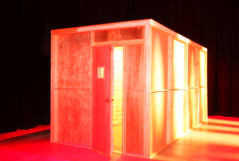 You must eat your way out of this cotton candy prison cell