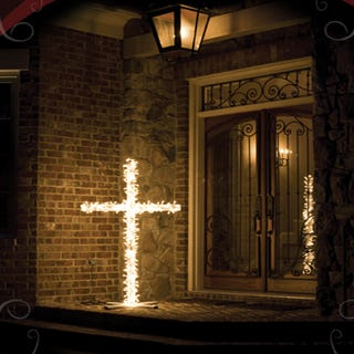 "Say ""Merry Xmas KKK!"" With a Nice Burning Cross Light"
