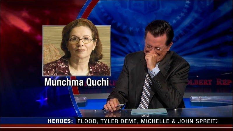 Five Full Minutes of Stephen Colbert Breaking Character