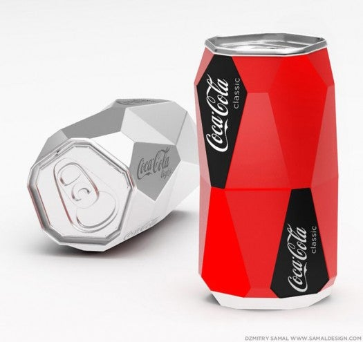 Redesigned Coke Can Won't Roll Off the Table