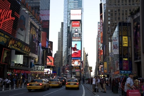 Toshiba's LED TV Screen Lights up Center Stage in Times Square