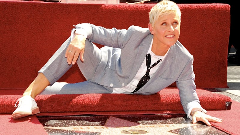 Ellen Demonstrates the Proper Way to Receive a Walk of Fame Star