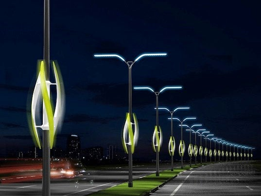 Wind-Powered Highway Lights Disconnect From the Grid